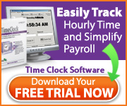 Easily track hourly time and simplify payroll with Time Clock Software