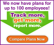 We now have plans up to 100 employees. Track more, get more, and report more!